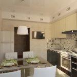 фото Интерьер кухни 9 кв м от 02.01.2018 №008 - Kitchen interior 9 sq M - design-foto.ru