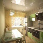 фото Интерьер кухни 9 кв м от 02.01.2018 №010 - Kitchen interior 9 sq M - design-foto.ru