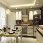 фото Интерьер кухни 9 кв м от 02.01.2018 №011 - Kitchen interior 9 sq M - design-foto.ru