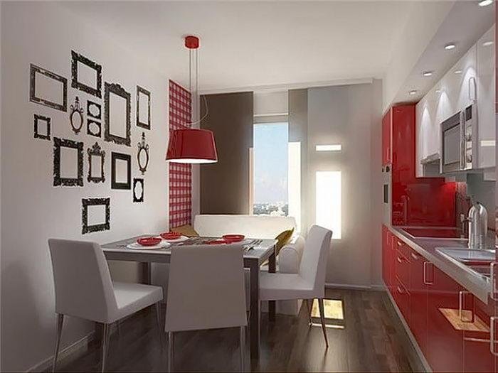 фото Интерьер кухни 9 кв м от 02.01.2018 №012 - Kitchen interior 9 sq M - design-foto.ru