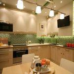 фото Интерьер кухни 9 кв м от 02.01.2018 №020 - Kitchen interior 9 sq M - design-foto.ru