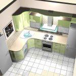фото Интерьер кухни 9 кв м от 02.01.2018 №021 - Kitchen interior 9 sq M - design-foto.ru