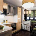 фото Интерьер кухни 9 кв м от 02.01.2018 №028 - Kitchen interior 9 sq M - design-foto.ru