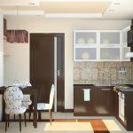 фото Интерьер кухни 9 кв м от 02.01.2018 №030 - Kitchen interior 9 sq M - design-foto.ru