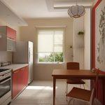 фото Интерьер кухни 9 кв м от 02.01.2018 №032 - Kitchen interior 9 sq M - design-foto.ru