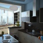 фото Интерьер кухни 9 кв м от 02.01.2018 №036 - Kitchen interior 9 sq M - design-foto.ru