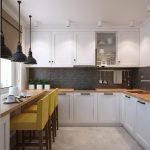 фото Интерьер кухни 9 кв м от 02.01.2018 №055 - Kitchen interior 9 sq M - design-foto.ru