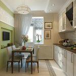 фото Интерьер кухни 9 кв м от 02.01.2018 №056 - Kitchen interior 9 sq M - design-foto.ru