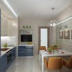 фото Интерьер кухни 9 кв м от 02.01.2018 №058 - Kitchen interior 9 sq M - design-foto.ru