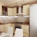 фото Интерьер кухни 9 кв м от 02.01.2018 №062 - Kitchen interior 9 sq M - design-foto.ru