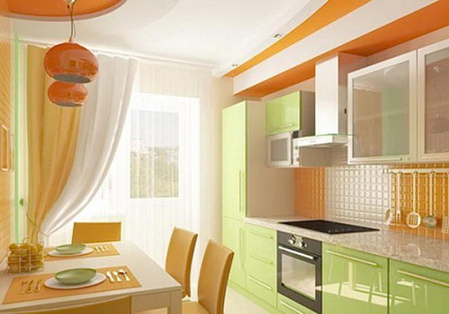 Интерьер кухни 9 кв. м
