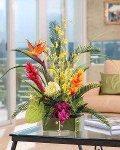 фото Искусственные цветы в интерьере от 26.03.2018 №034 - Artificial flowe - design-foto.ru