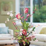 фото Искусственные цветы в интерьере от 26.03.2018 №043 - Artificial flowe - design-foto.ru
