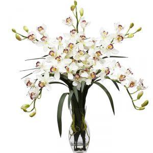 фото Искусственные цветы в интерьере от 26.03.2018 №047 - Artificial flowe - design-foto.ru