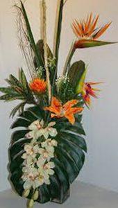 фото Искусственные цветы в интерьере от 26.03.2018 №084 - Artificial flowe - design-foto.ru