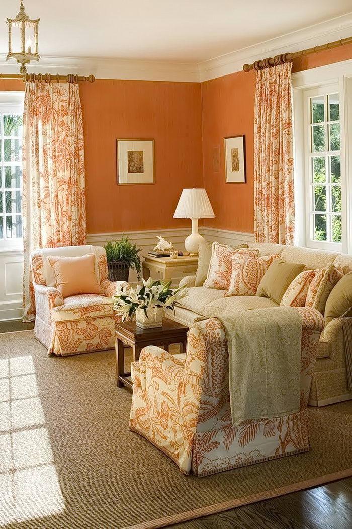 искренне персиковые стены дизайн фото или