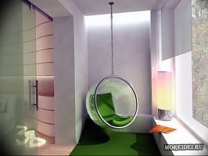 фото Интерьер лоджии от 27.04.2018 №015 - Interior of the loggia - design-foto.ru