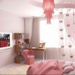 Фото Интерьер комнаты для девочки 20.06.2019 №022 - Interior room for girl - design-foto.ru