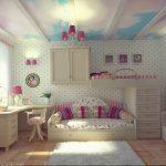 Фото Интерьер комнаты для девочки 20.06.2019 №146 - Interior room for girl - design-foto.ru