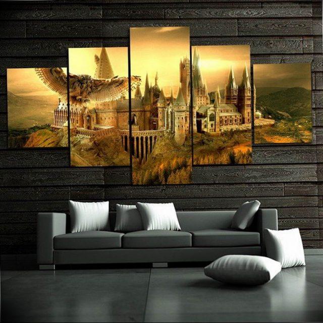 Модульные фото картины в интерьере