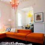 Фото Оранжевый цвет в интерь 20.06.2019 №002 - Orange color in the interio - design-foto.ru