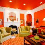 Фото Оранжевый цвет в интерь 20.06.2019 №010 - Orange color in the interio - design-foto.ru