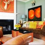 Фото Оранжевый цвет в интерь 20.06.2019 №079 - Orange color in the interio - design-foto.ru