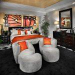 Фото Оранжевый цвет в интерь 20.06.2019 №090 - Orange color in the interio - design-foto.ru