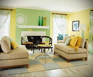 желтый цвет в интерьере гостиной 09.10.2019 №002 -yellow in interior- design-foto.ru
