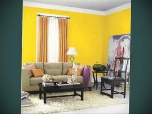 желтый цвет в интерьере гостиной 09.10.2019 №005 -yellow in interior- design-foto.ru