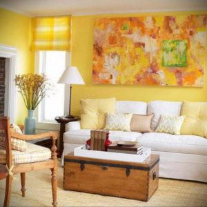 желтый цвет в интерьере гостиной 09.10.2019 №008 -yellow in interior- design-foto.ru