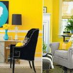 желтый цвет в интерьере гостиной 09.10.2019 №010 -yellow in interior- design-foto.ru