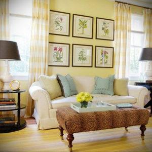 желтый цвет в интерьере гостиной 09.10.2019 №011 -yellow in interior- design-foto.ru