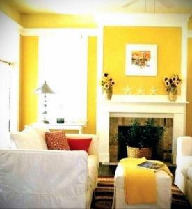 желтый цвет в интерьере гостиной 09.10.2019 №013 -yellow in interior- design-foto.ru