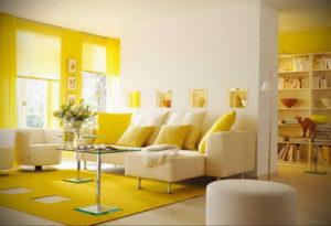 желтый цвет в интерьере гостиной 09.10.2019 №021 -yellow in interior- design-foto.ru