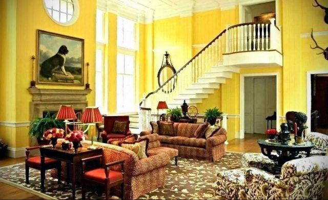 Желтый цвет в декоре квартиры