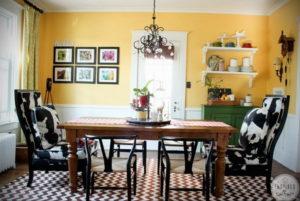 желтый цвет в интерьере гостиной 09.10.2019 №025 -yellow in interior- design-foto.ru