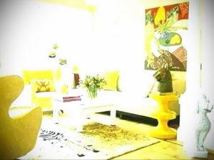 желтый цвет в интерьере гостиной 09.10.2019 №027 -yellow in interior- design-foto.ru