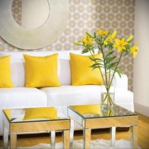 желтый цвет в интерьере гостиной 09.10.2019 №033 -yellow in interior- design-foto.ru