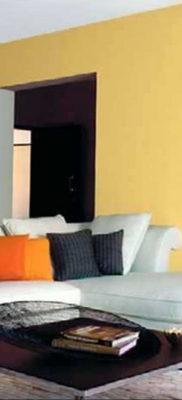 желтый цвет в интерьере гостиной 09.10.2019 №034 -yellow in interior- design-foto.ru