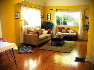 желтый цвет в интерьере гостиной 09.10.2019 №036 -yellow in interior- design-foto.ru