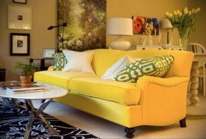 желтый цвет в интерьере гостиной 09.10.2019 №037 -yellow in interior- design-foto.ru