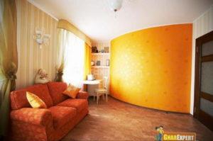 желтый цвет в интерьере гостиной 09.10.2019 №042 -yellow in interior- design-foto.ru
