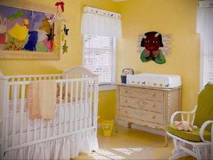 желтый цвет в интерьере детской 09.10.2019 №003 -yellow in interior- design-foto.ru