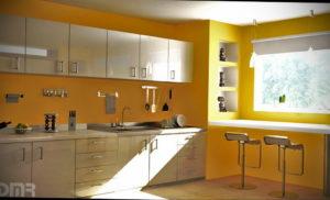 желтый цвет в интерьере кухни 09.10.2019 №001 -yellow in interior- design-foto.ru