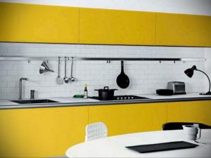 желтый цвет в интерьере кухни 09.10.2019 №005 -yellow in interior- design-foto.ru