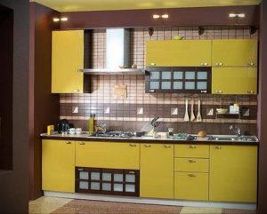 желтый цвет в интерьере кухни 09.10.2019 №006 -yellow in interior- design-foto.ru