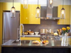 желтый цвет в интерьере кухни 09.10.2019 №007 -yellow in interior- design-foto.ru