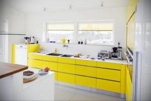 желтый цвет в интерьере кухни 09.10.2019 №008 -yellow in interior- design-foto.ru