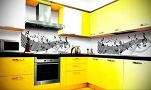желтый цвет в интерьере кухни 09.10.2019 №009 -yellow in interior- design-foto.ru